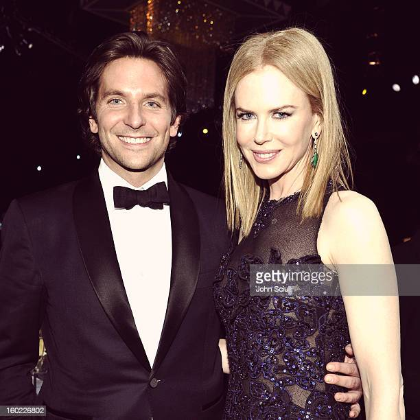 Actors Bradley Cooper and Nicole Kidman attend the 19th Annual Screen Actors Guild Awards at The Shrine Auditorium on January 27 2013 in Los Angeles...