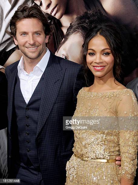 Actors Bradley Cooper and Zoe Saldana arrive at the Los Angeles premiere of 'The Words' at ArcLight Cinemas on September 4 2012 in Hollywood...
