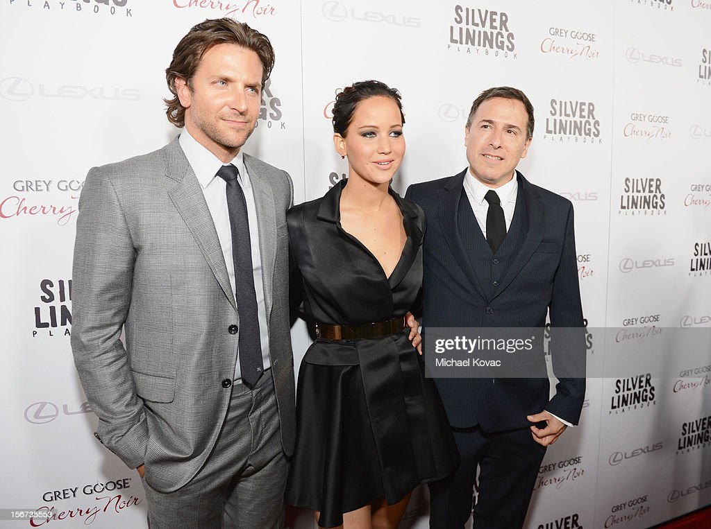 Actors Bradley Cooper, Jennifer Lawrence and director David O. Russell attend a special screening of 'Silver Linings Playbook' presented by The Weinstein Company sponsored by Grey Goose and Lexus at AMPAS Samuel Goldwyn Theater on November 19, 2012 in Beverly Hills, California.