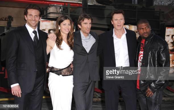 Actors Bradley Cooper Jessica Biel Liam Neeson Sharlto Copley and and Quinton 'Rampage' Jackson attends 'The ATeam' Los Angeles Premiere at Grauman's...
