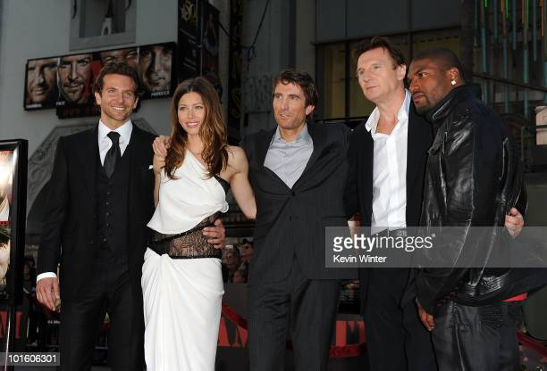 Actors Bradley Cooper Jessica Biel Sharlto Copley Liam Neeson and Quinton 'Rampage' Jackson arrive at the premiere of 20th Century Fox's 'The ATeam'...