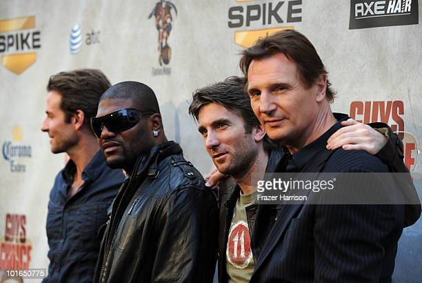 Actors Bradley Cooper Quinton Jackson Sharlto Copley and Liam Neeson arrive at Spike TV's 4th Annual 'Guys Choice Awards' held at Sony Studios on...