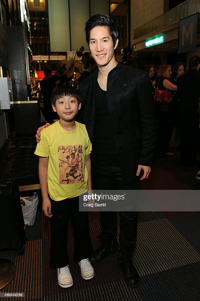 Actors Bradley Fong (L) and Cole Horibe attend The 2013 Steinberg Playwright 'Mimi' Awards presented by The Harold and Mimi Steinberg Charitable Trust at Lincoln Center Theater on November 18, 2013 in New York City.