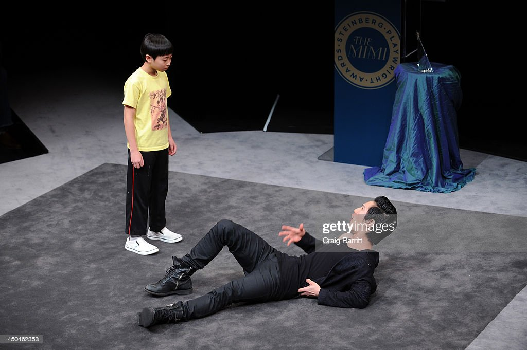 Actors Bradley Fong (L) and Cole Horibe perform onstage at The 2013 Steinberg Playwright 'Mimi' Awards presented by The Harold and Mimi Steinberg Charitable Trust at Lincoln Center Theater on November 18, 2013 in New York City.
