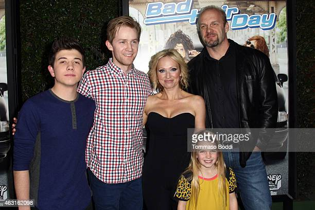 Actors Bradley Steven Perry Jason Dolley LeighAllyn Baker Mia Talerico and Eric Allan Kramer attend the Disney Channel Original Movie 'Bad Hair Day'...