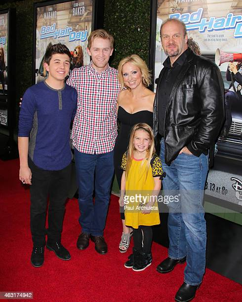 Actors Bradley Steven Perry Jason Dolley LeighAllyn Baker Mia Talerico and Eric Allan Kramer attend the Los Angeles premiere of 'Bad Hair Day' a...