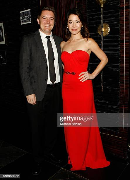 Actors Brady Bluhm and Katherine Castro attend Katherine Castro Receives Hollywood FAME Awards at Avalon on November 12 2014 in Hollywood California