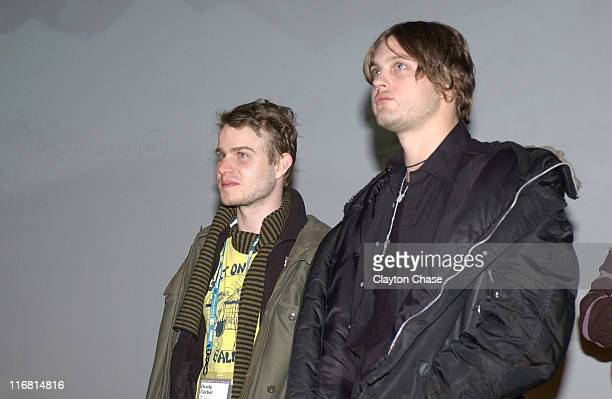 Actors Brady Corbet and Michael Pitt attend a screening of 'Funny Games' at the Egyptian Theatre during the 2008 Sundance Film Festival on January 23...