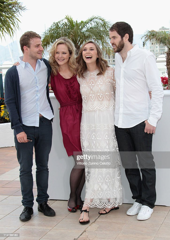 Actors Brady Corbet, Louisa Krause, Elizabeth Olsen and director Sean Durkin attend the 'Martha Marcy May Marlene' photocall at the Palais des Festivals during 64th Cannes Film Festival on May 15, 2011 in Cannes, France.