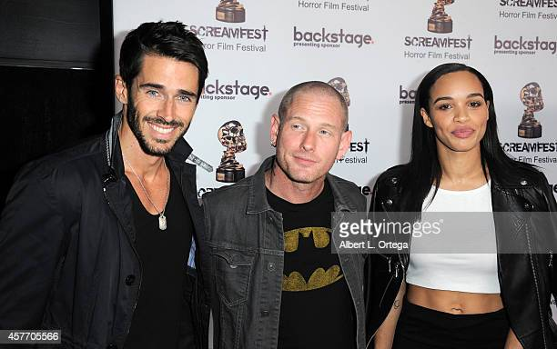 Actors Brandon Beeme Corey Taylor and Cleopatra Coleman arrive for the 'Fear Clinic' Premiere Screening And QA as part of 2014 ScreamFest held at TCL...