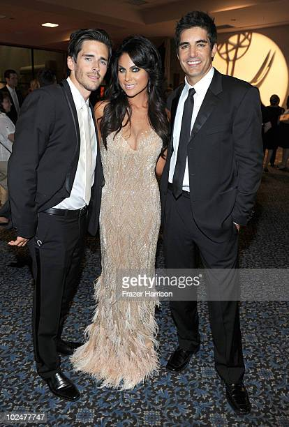 Actors Brandon BeemerNadia Bjorlin and Galen Gering attend the 37th Annual Daytime Entertainment Emmy Awards after party held at the Las Vegas Hilton...