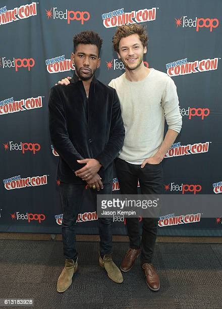 Actors Brandon Mychal Smith and Nick Fink attend the Sweet/Vicious press junket at New York Comic Con at Javits Center on October 7 2016 in New York...