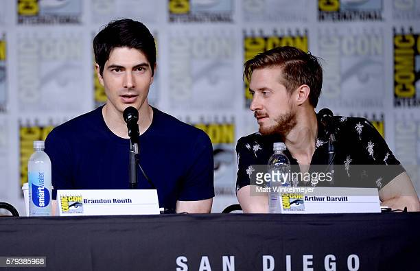 Actors Brandon Routh and Arthur Darvill attend DC's 'Legends Of Tomorrow' Special Video Presentation and QA during ComicCon International 2016 at San...