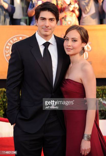Actors Brandon Routh and Courtney Ford arrive to the 16th Annual Screen Actors Guild Awards held at The Shrine Auditorium on January 23 2010 in Los...