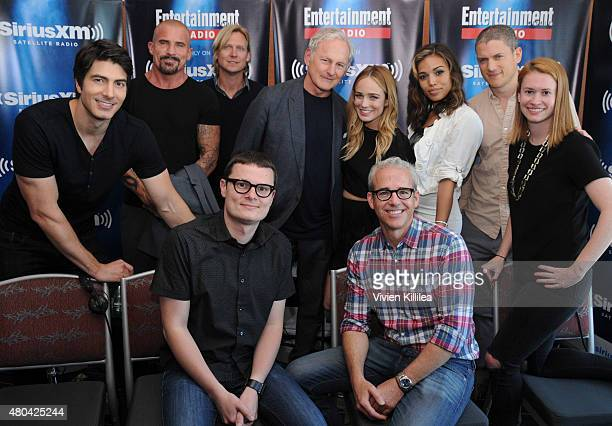 Actors Brandon Routh and Dominc Purcell executive producer Phil Klemmer actors Victor Garber Caity Lotz Ciara Renee and Wentworth Miller radio...