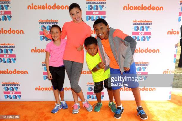 "Actors Breanna Yde Amber Montana Benjamin ""Lil PNut"" Flores Jr and Curtis Harris enjoy the activities at Nickelodeon's 10th Annual Worldwide Day of..."