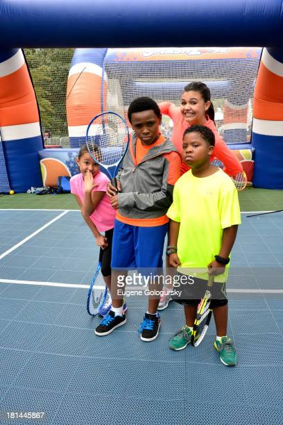 "Actors Breanna Yde Curtis Harris Amber Montana and Benjamin ""Lil PNut"" Flores Jr enjoy the activities at Nickelodeon's 10th Annual Worldwide Day of..."