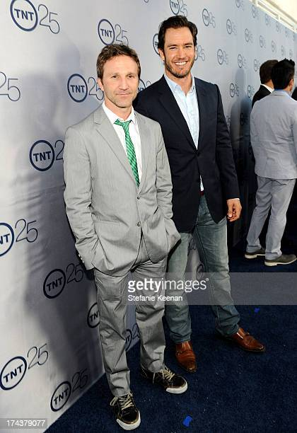 Actors Breckin Meyer and MarkPaul Gosselaar attend TNT 25TH Anniversary Party during Turner Broadcasting's 2013 TCA Summer Tour at The Beverly Hilton...