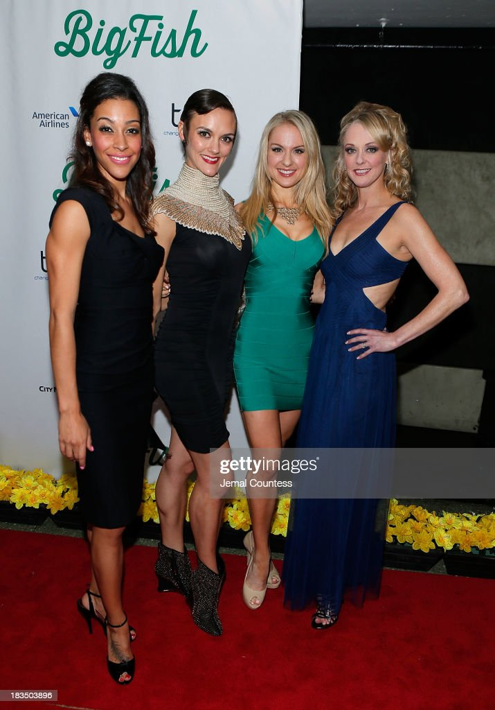 Actors Bree Branker, Leah Hofmann, Robin Campbell and Angie Schworer attend the 'Big Fish' Broadway Opening Night After Party at Roseland Ballroom on October 6, 2013 in New York City.
