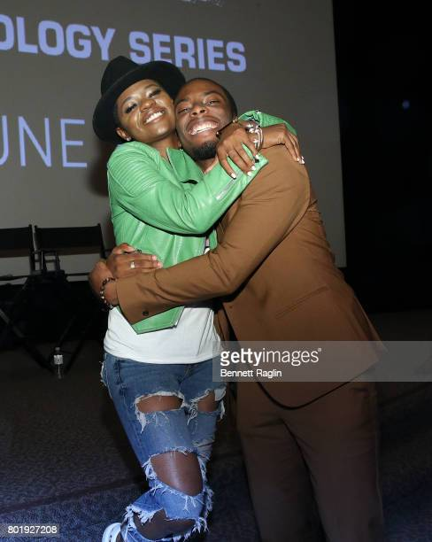 Actors Breezy and Woody McClain attend the screening of the BET series 'Tales' at DGA Theater on June 26 2017 in Los Angeles California