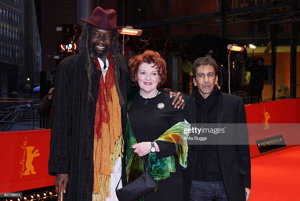 Actors Brenda Blethyn (C) and Sotigui Kouyate (L) and director Rachid Bouchareb attend the premiere for 'London River' as part of the 59th Berlin Film Festival at the Grand Hyatt Hotel on February 10, 2009 in Berlin, Germany.