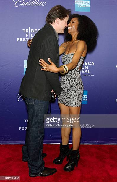 Actors Brendan Fraser and Yaya DaCosta attend the 'Whole Lotta Sole' Premiere during the 2012 Tribeca Film Festival at the School of Visual Arts on...