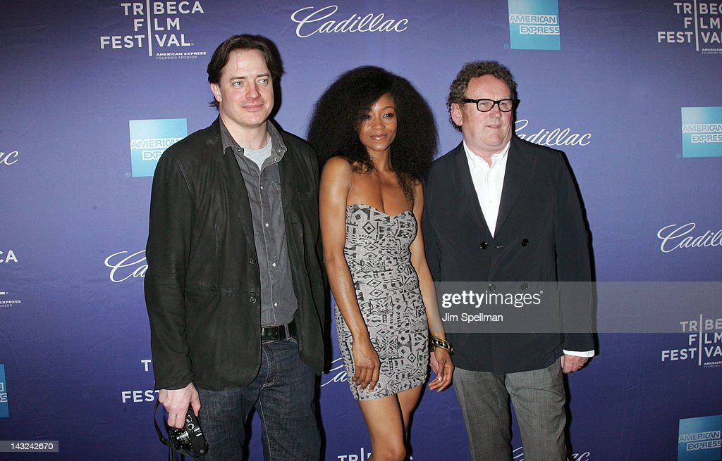 Actors Brendan Fraser, Yaya DaCosta and actor Colm Meaney attend the premiere of 'Whole Lotta Sole' during the 2012 Tribeca Film Festival at BMCC Tribeca PAC on April 21, 2012 in New York City.