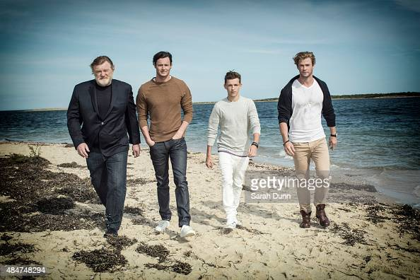 Actors Brendan Gleeson Benjamin Walker Tom Holland and Chris Hemsworth are photographed for Entertainment Weekly magazine on October 6 2014 in...