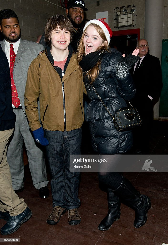 Actors Brendan Meyer and Kerris Dorsey attend the 2013 CitySightseeing New York holiday toy drive at PAL's Harlem Center on December 14, 2013 in New York City.