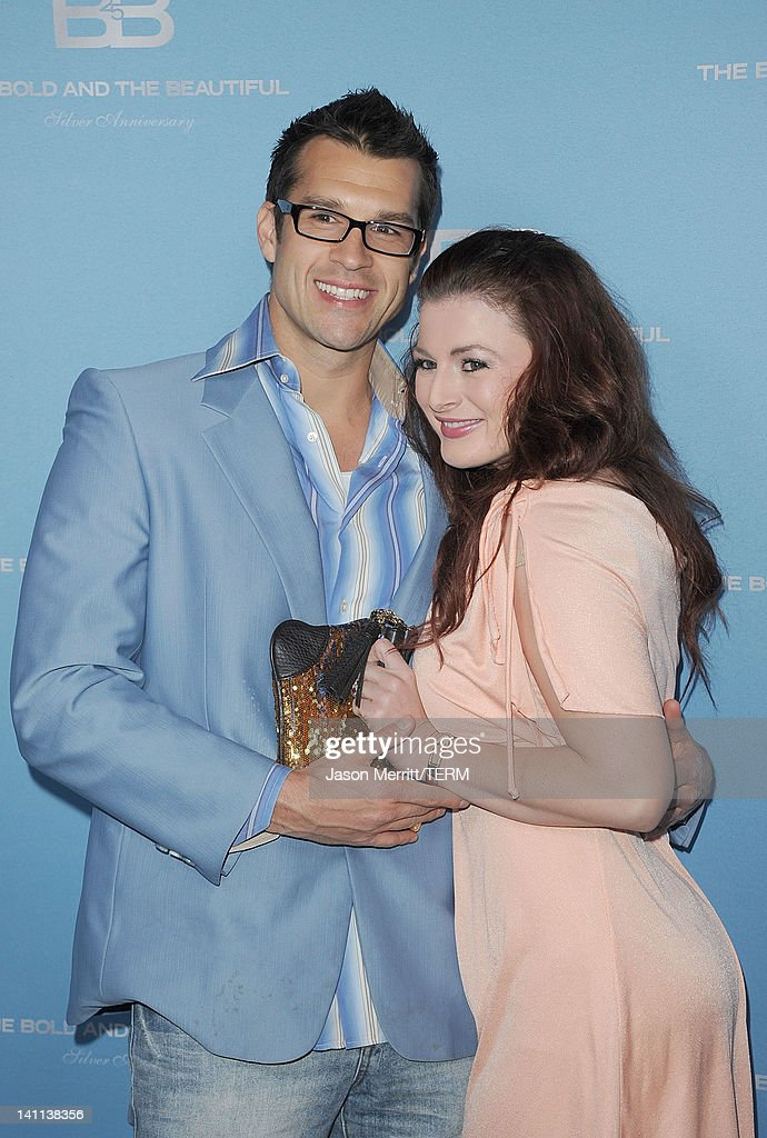 Actors Brendon Villegas and Rachel Reilly attend the 5th Silver Anniversary party for CBS' 'The Bold And The Beautifu on March 10, 2012 in Los Angeles, California.