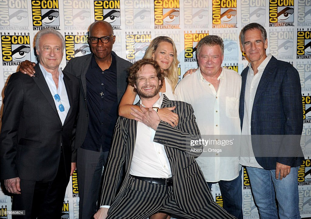 Actors Brent Spiner and Michael Dorn, writer/producer Bryan Fuller, actors Jeri Ryan, William Shatner and Scott Bakula attend the 'Star Trek' panel during Comic-Con International 2016 at San Diego Convention Center on July 23, 2016 in San Diego, California.