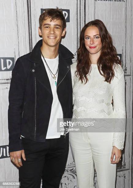 Actors Brenton Thwaites and Kaya Scodelario attend Build to discuss 'Pirates Of The Caribbean Dead Men Tell No Tales' at Build Studio on May 25 2017...