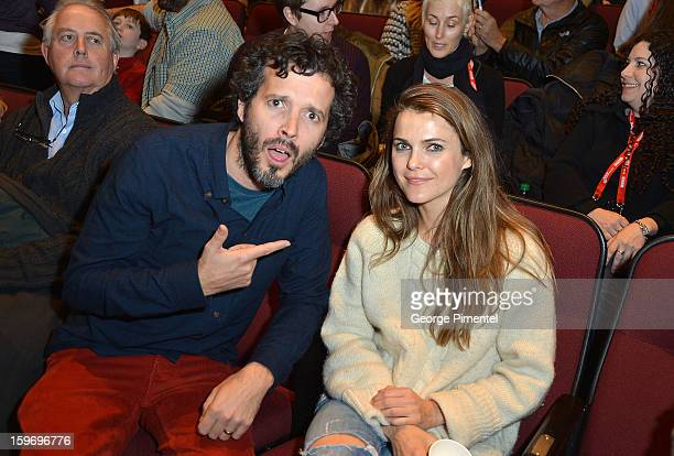 Actors Bret McKenzie and Keri Russell attend 'Austenland' Premiere during the 2013 Sundance Film Festival at Eccles Center Theatre on January 18 2013...