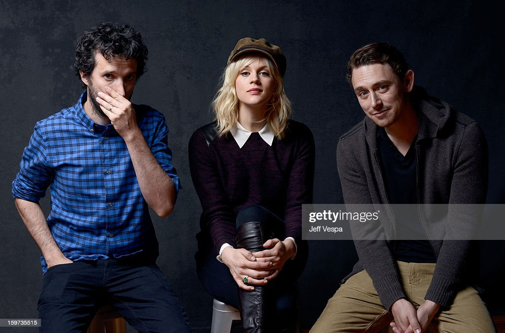 Actors Bret McKenzie, Georgia King, and JJ Feild pose for a portrait during the 2013 Sundance Film Festival at the WireImage Portrait Studio at Village At The Lift on January 19, 2013 in Park City, Utah.