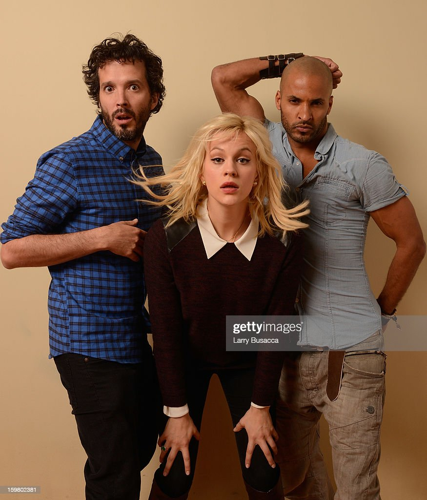 Actors <a gi-track='captionPersonalityLinkClicked' href=/galleries/search?phrase=Bret+McKenzie&family=editorial&specificpeople=4329701 ng-click='$event.stopPropagation()'>Bret McKenzie</a>, <a gi-track='captionPersonalityLinkClicked' href=/galleries/search?phrase=Georgia+King&family=editorial&specificpeople=5846970 ng-click='$event.stopPropagation()'>Georgia King</a> and <a gi-track='captionPersonalityLinkClicked' href=/galleries/search?phrase=Ricky+Whittle&family=editorial&specificpeople=3358286 ng-click='$event.stopPropagation()'>Ricky Whittle</a> pose for a portrait during the 2013 Sundance Film Festival at the Getty Images Portrait Studio at Village at the Lift on January 19, 2013 in Park City, Utah.