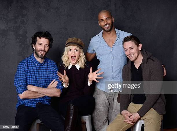 Actors Bret McKenzie Georgia King Ricky Whittle and JJ Feild pose for a portrait during the 2013 Sundance Film Festival at the WireImage Portrait...