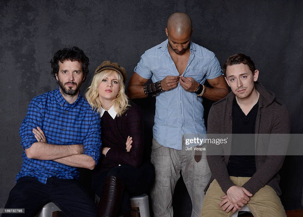 Actors Bret McKenzie, Georgia King, Ricky Whittle, and JJ Feild pose for a portrait during the 2013 Sundance Film Festival at the WireImage Portrait Studio at Village At The Lift on January 19, 2013 in Park City, Utah.