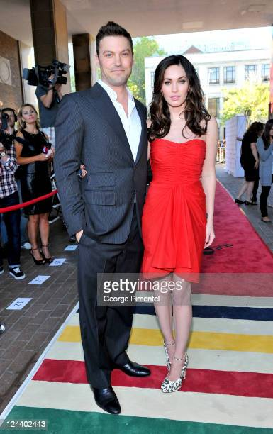 Actors Brian Austin Green and Megan Fox arrive at 'Friends With Kids' Premiere at Ryerson Theatre during the 2011 Toronto International Film Festival...