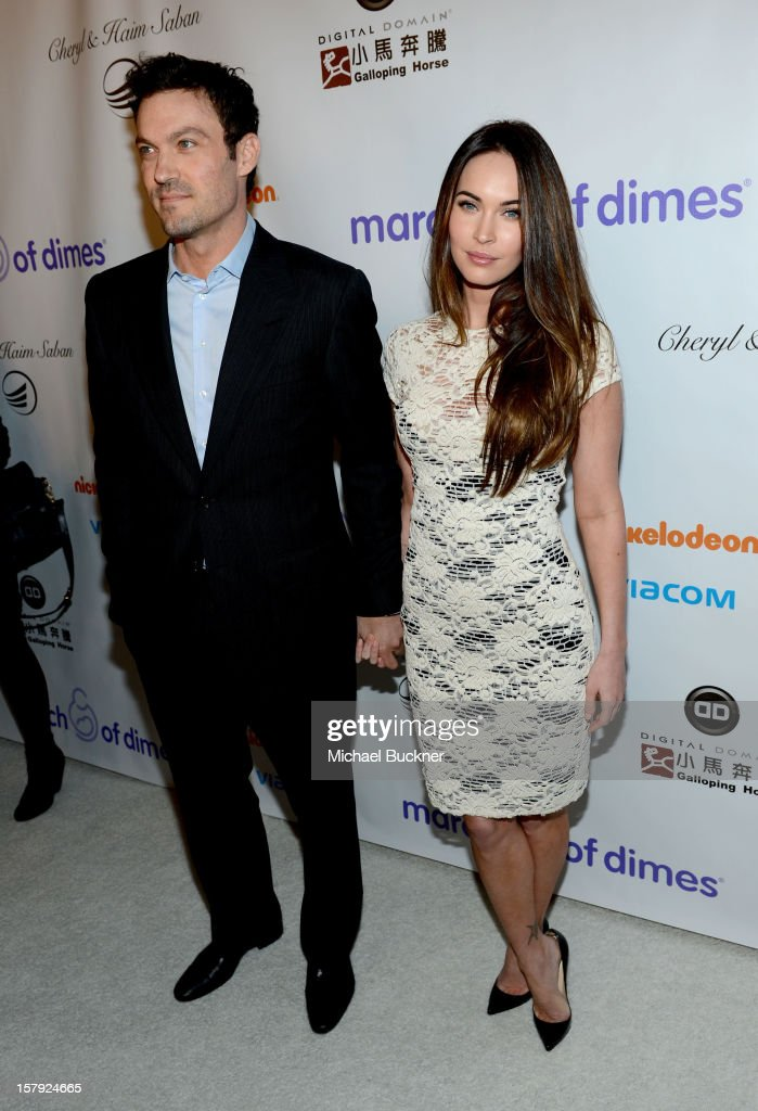 Actors Brian Austin Green and Megan Fox attend the 7th Annual March of Dimes Celebration of Babies, a Hollywood Luncheon, at the Beverly Hills Hotel on December 7, 2012 in Beverly Hills, California.