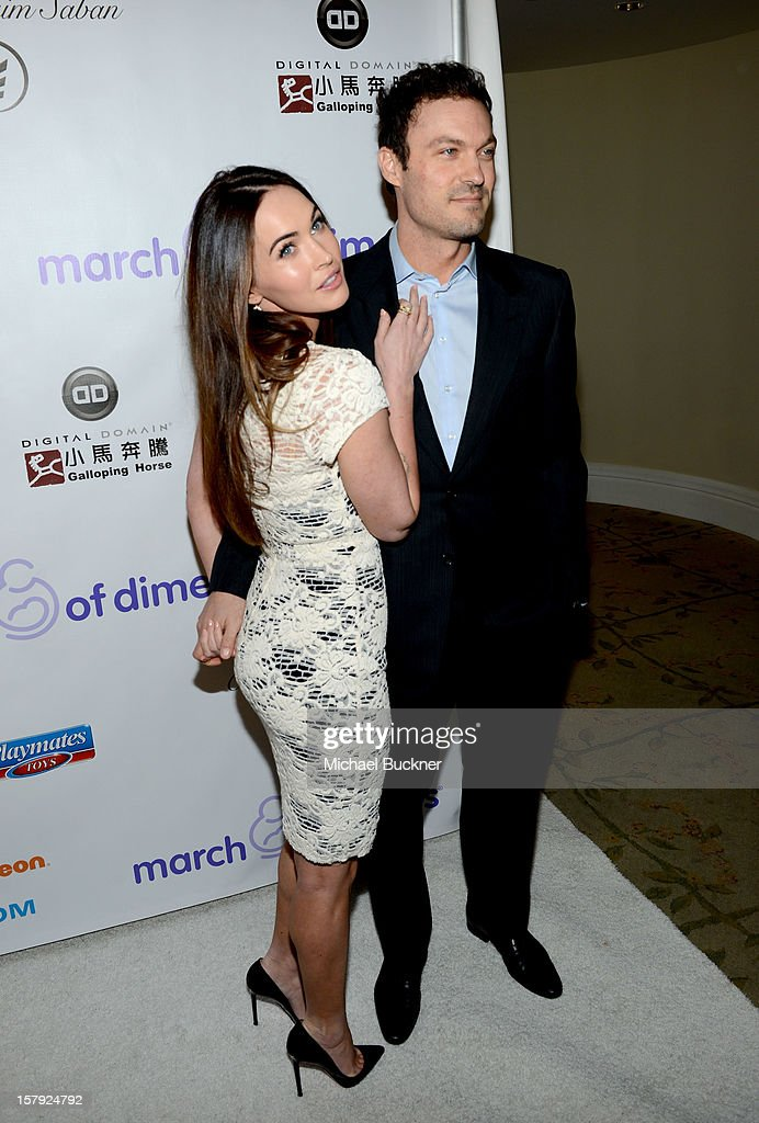Actors Brian Austin Green (R) and Megan Fox attend the 7th Annual March of Dimes Celebration of Babies, a Hollywood Luncheon, at the Beverly Hills Hotel on December 7, 2012 in Beverly Hills, California.