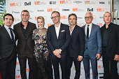 Actors Brian d'Arcy James Liev Schreiber Rachel McAdams Director Tom McCarthy Mark Ruffalo John Slattery and Michael Keaton attend the 'Spotlight'...
