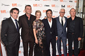 Actors Brian d'Arcy James Liev Schreiber Rachel McAdams Mark Ruffalo John Slattery and Michael Keaton attend the 'Spotlight' premiere during the 2015...