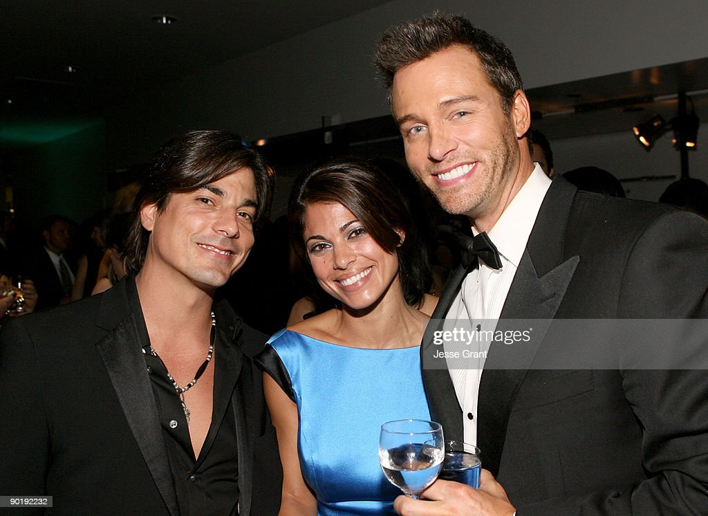 Actors Brian Dattilo, Lindsay Hartley, and Eric Martsolf attend the 36th Annual Daytime Emmy Awards after party on August 30, 2009 in Los Angeles, California.