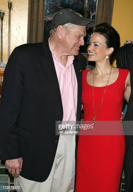 Actors Brian Dennehy Carla Gugino Pablo Schreiber and Director Robert Falls attend the opening night party for 'Desire Under The Elms' on Broadway at...