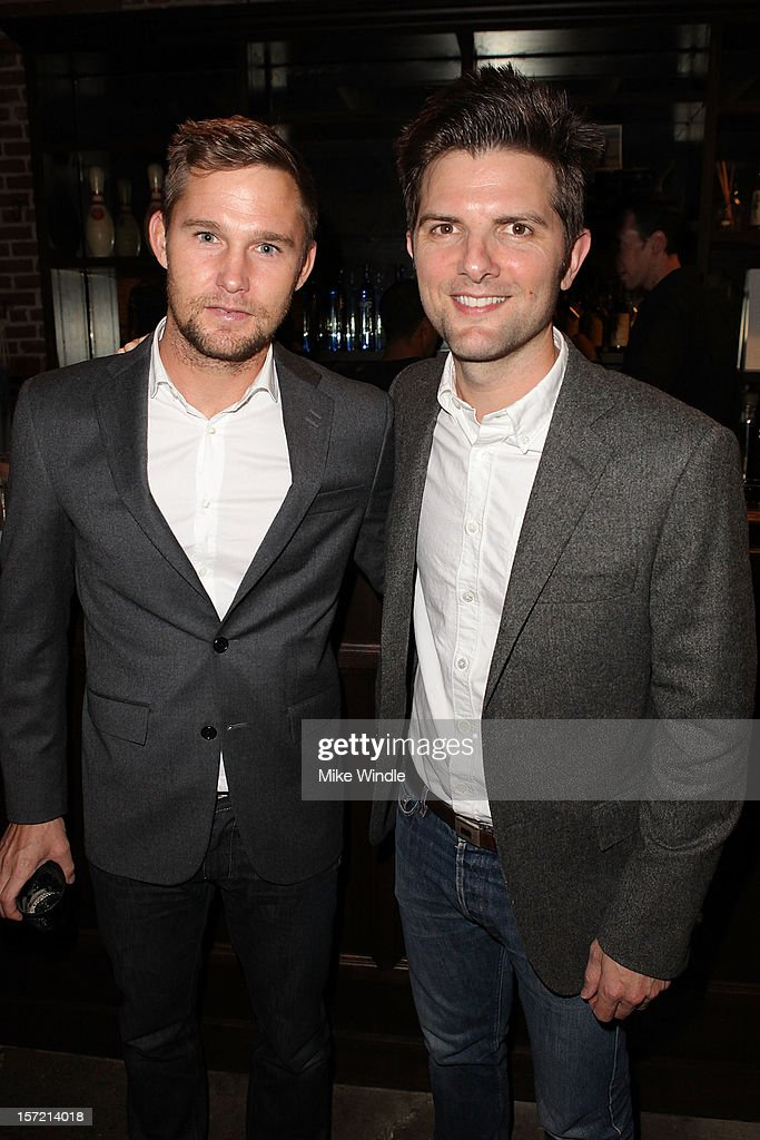 Actors <a gi-track='captionPersonalityLinkClicked' href=/galleries/search?phrase=Brian+Geraghty&family=editorial&specificpeople=2191642 ng-click='$event.stopPropagation()'>Brian Geraghty</a> (L) Adam Scott attend Adam Scott hosts Todd Snyder Event sponsored by Qloo at Confederacy on November 29, 2012 in Los Angeles, California.