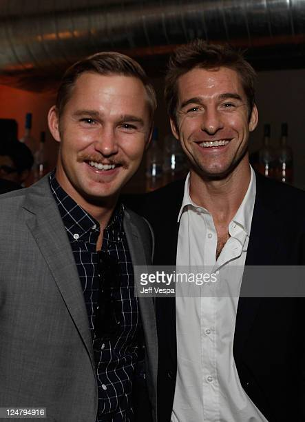 Actors Brian Geraghty and Scott Speedman attend the 'Ten Year' dinner hosted by GREY GOOSE Vodka at Soho House Pop Up Club during the 2011 Toronto...