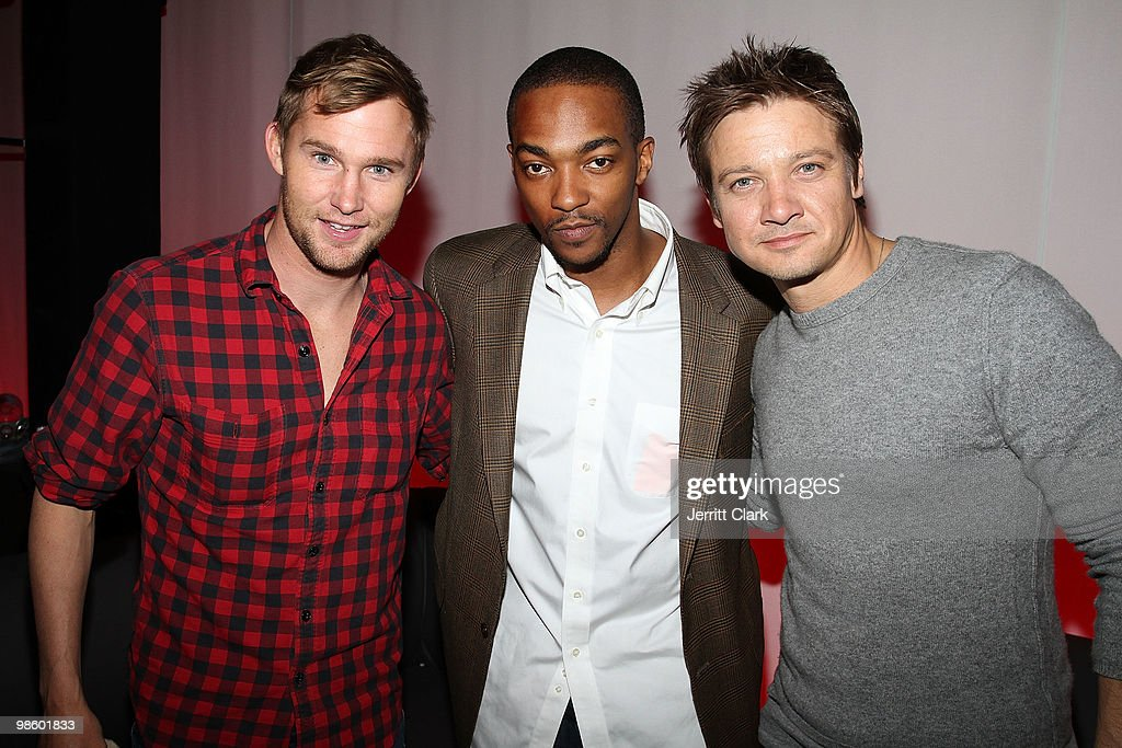 Actors Brian Geraghty, Anthony Mackie and Jeremy Renner of Hurtlocker attend the 7th Annual ESPN The Magazine Pre-Draft Party at Espace on April 21, 2010 in New York City.