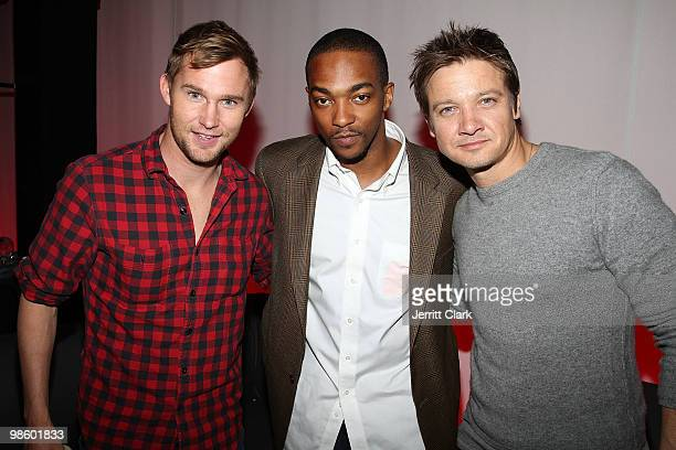 Actors Brian Geraghty Anthony Mackie and Jeremy Renner of Hurtlocker attend the 7th Annual ESPN The Magazine PreDraft Party at Espace on April 21...