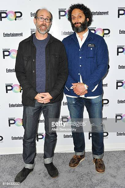 Actors Brian Huskey and Jason Mantzoukas attend Entertainment Weekly's Popfest at The Reef on October 30 2016 in Los Angeles California