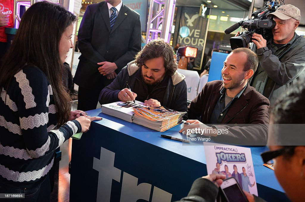Actors <a gi-track='captionPersonalityLinkClicked' href=/galleries/search?phrase=Brian+Quinn+-+Comedian&family=editorial&specificpeople=14584863 ng-click='$event.stopPropagation()'>Brian Quinn</a> (L) and <a gi-track='captionPersonalityLinkClicked' href=/galleries/search?phrase=James+Murray+-+Comedian&family=editorial&specificpeople=14584458 ng-click='$event.stopPropagation()'>James Murray</a> at the Guinness World Records Unleashed Arena in Times Square on November 6, 2013 in New York City. (Photo by Theo Wargo/WireImage) 24244_003_TW_0282.JPG